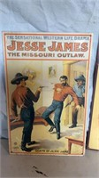 Jesse James, Clark's ONT and Mennens Metal Signs