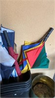 Plastic Trash Cans and Umbrellas