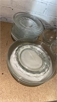Clear Glass Plates, Glasses, and Tea Cups