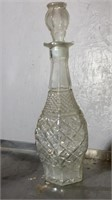 Clear Glass Bottles and Goblet