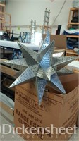 Metal 3D star light/chandelier as