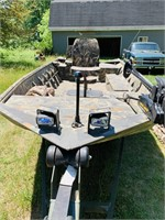 2009 War Eagle18' Aluminum Duck /Fishing Boat