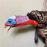 Full Body Flying Turkey on Driftwood Board