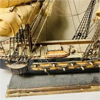 """Big Ship, Fragata Espanola 1780, 34"""" long x 24"""" H"""