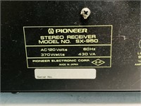 Pioneer SX-950 Receiver, 370 watts, Very Heavy