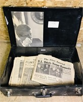 Chest full of Neat Old Newspapers