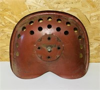 """Metal Tractor Seat, rust free, 17"""" wide"""