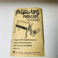 Fireside Paper Log Roller, great condition