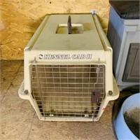 Pet Lot, wood Box w/pet door, padded seat