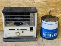 Sear's Kerosene Heater and Kerosene Can