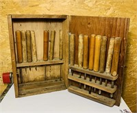 Old Chisel/Lathe Tool Set in Wood Case