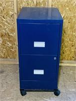 "Metal File Cabinet on Wheels, 15""w x 32"" h x 18"" d"