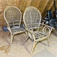 3 Bent Wood Highback Chairs