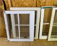 8 Old House Windows, all have glass