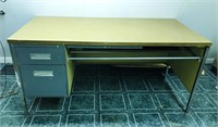 Desk approximately 4 ft W x 3 ft H x 2 ft D