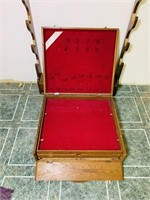 Gun Rack and Lined Wooden Case