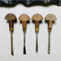 4 Greenlee Carving Tools, plus a Case full