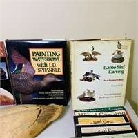 Carving Lot, Books and Ducks