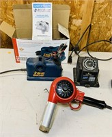 Wagner got/cold Blower, 2 Drill bit Sharpeners,