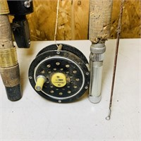 2 closed Face, 1 Open, Fly Rod/Reel