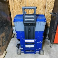 Benchtop Toolbox w/Electric Cord Reel, on wheels
