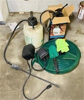 2 Pump Sprayers, 2 Hoses,2 timers etc