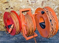 3 Extension Cords on Reels