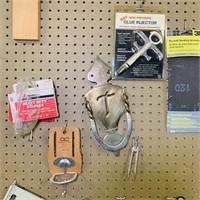 Peg Board Contents, big brass door knocker, angle