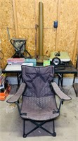 Lot of outdoor stuff, Portable Adjustable Stool,
