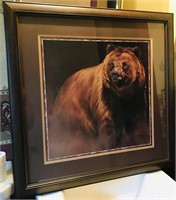 "Bear Picture  27 "" x 27"""