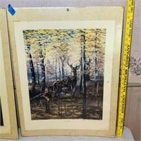 2 SEALED Signed Charles Denault Wildlife prints