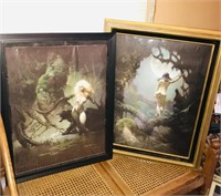 5 Fantasy pictures in various frames