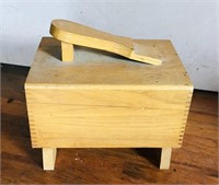 Shoe shine box with contents