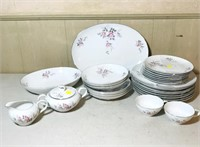 Harmony House China Set,  eight large plates
