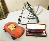 Vintage Things, Razors, Mole Trap, Tonka