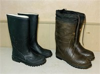 2 Pair Rubber Boots, One pair is Redball, both