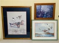 "3 Framed Wildlife Prints, 28"" x 24"", 21"" x 17"","