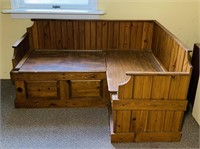"Corner Bench Seat, Cedar Lined, 58"" x 40"""