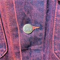 Western Rifle Denim Jacket, Blue/Red, Size Large