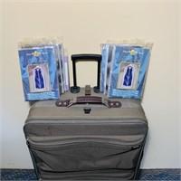 Big American Tourist Suitcase w/wheels, 6 dress