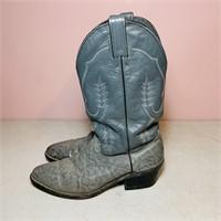 Men's 9.5 D Gray Cowboy Boots,Abiene USA Brand