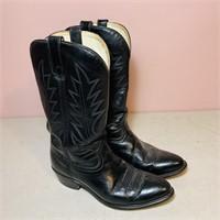 Cowboy Boots, Black, Size 9 D, not sure brand,