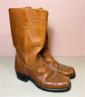 Landis Square Toe Boots, size 9