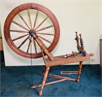 "Wooden Weaving Machine, 27"" Wheel"
