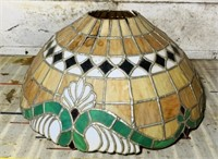 "Stained Glass Shade, 20"" wide x 9.5"" high"
