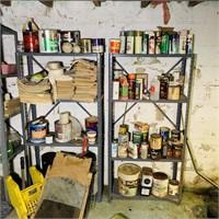 6 Metal shelves in Basement