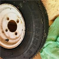 Carlisle 4.80 - 8 new tire on rim