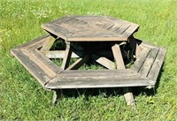 Octagon picnic Table, seems solid