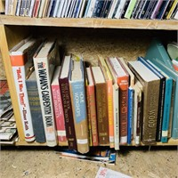 Lot of Books in Garage loft, Field and Stream,
