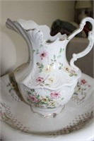 Porcelain Pitcher And Bowl